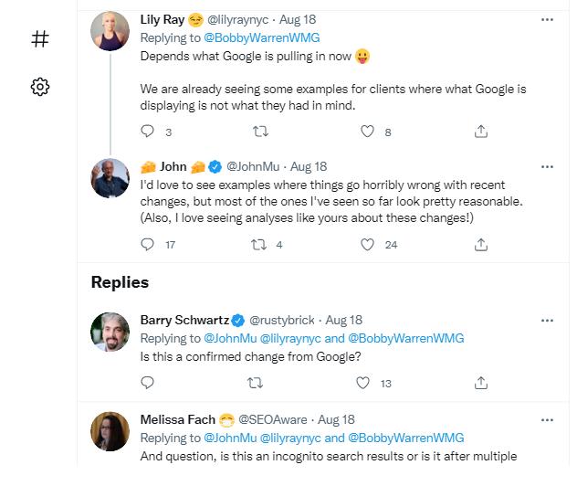 واکنش افراد به تغییر عنوان در نتایج گوگل